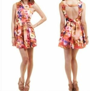 Nameless Floral scuba knit dress